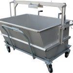 Kadaverkippbehälter 950 ltr. mit Fahrwagen (ohne Deckel)
